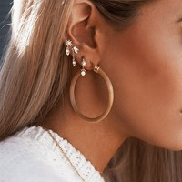 Golden Mesh Hoops - Accessories by Sabo Skirt