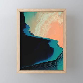 CliffHanger Framed Mini Art Print by duckyb