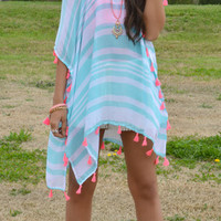 Too Tassel 4 U Poncho Cover-Up