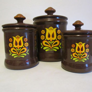 West Bend Mod Canister Set