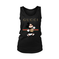 DCCK2 Gucci Stripe Mickey Mouse Stay Stylish Women's Tank Tops