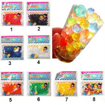 10bag/lot Pearl shaped Crystal Soil Water Beads Mud Grow Magic Jelly balls wedding Home Decor£¨random color£© = 1933075844