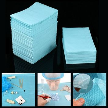 125pcs Disposable Tattoo Clean Pad Waterproof Medical Paper Tablecloths Mat Double Layer Sheets Tattoo Accessories 45*33cm 2017