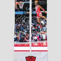 Michael Jordan Dunk Contest Custom Socks - Socktimus Prime Custom Sublimated Socks - NBA Socks, Chicago Bulls Socks, Basketball Socks, MJ