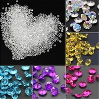 1000pcs 4.5mm Acrylic Clear Diamond Confetti Wedding Party Table Scatters Decoration Crystals Centerpiece Festive Supplies [7983657671]