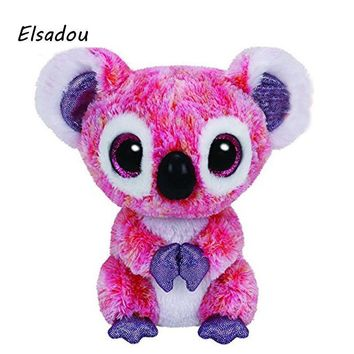 Elsadou Ty Beanie Boos Stuffed & Plush Animals Pink Koala Toy Doll