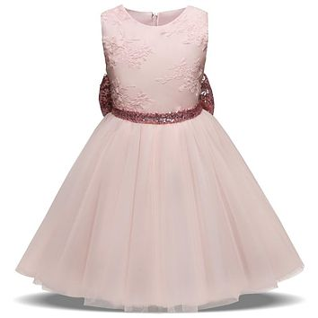 Infant Baby Girl Dress Princess Wedding And School Party Dresses Fashion Summer Toddler Clothes Children's Costume For 1-5Years