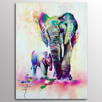 Without Frame Decor Canvas Painting Wall Pictures 1 Panels Wall Art Elephant Canvas Art Home Decor Modern  Pictures Oil Painting
