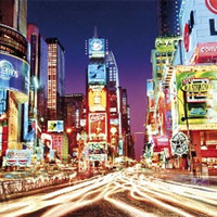 Times Square New York Psychedelic Poster 24x36