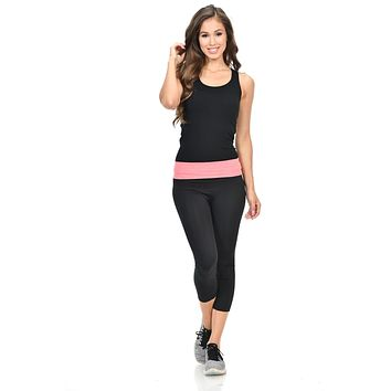 Diamante Women's Power Flex Yoga Pant Legging Sportswear - Style P162021