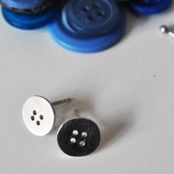 The Perfect Pair Button Stud Earrings  Made to by TheAngryWeather