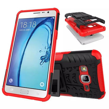 For Samsung Galaxy On5 Case Armor Heavy Duty Case Dual Layer Hard Hybrid Kickstand Case Shock Proof For Samsung Galaxy On5 Cover