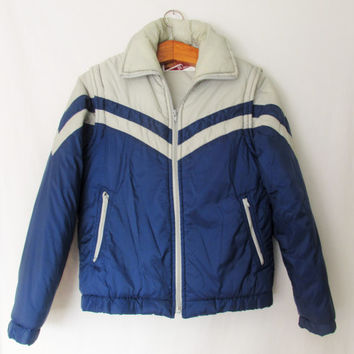 Vintage 1970s Striped Ski Jacket Vest