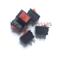 New 5pcs 21MM*15MM Red Push Button Mini Switch 6A-10A 110V 250V KCD1  2Pin Snap-in On/Off Rocker Switch 5PCS/Lot  Red