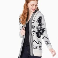 Isla Aztec Hooded Cardigan | Charming Charlie