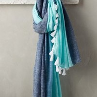 Kirana Dip-Dyed Sarong by Anthropologie Blue All Scarves