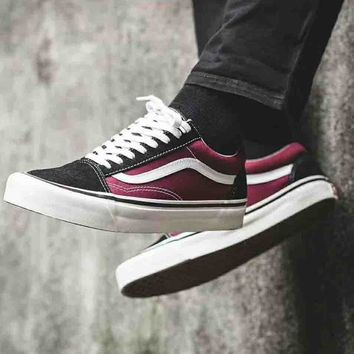 Vans Old Skool Style 36DX Anaheim Casual Sports Skate Shoes F-CSXY black/red