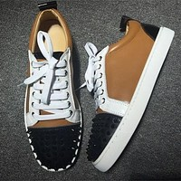 Cl Christian Louboutin Louis Junior Style #2037 Sneakers Fashion Shoes
