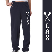 Lax with Sticks (Whimsical) Fleece Sweatpants | Lacrosse Fleece Sweatpants | Lacrosse Casual Pants