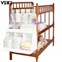 Nursery Hanging Kids Toy Case Baskets Large Baby Cot Bed Storage Bag Diaper Nappy Clothes Crib Wall Door Kid Bedroom Organizer