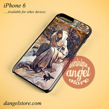 Alphonse Mucha 4 Phone case for iPhone 6 and another iPhone devices