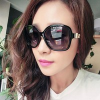 NEW 2017 Fashion Big Frame Bow Sunglasses for Women Luxury Brand Designer Vintage Sun Glasses for Women Girls 9522