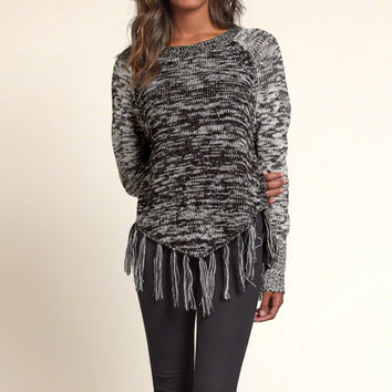 Fringe Hem Colorblock Sweater