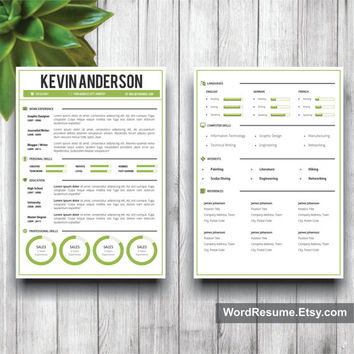 Word Resume Template + Cover Letter, CV Template (US Letter, A4), Professional Resume, Creative  Resume, Instant Download Resume, Teacher CV