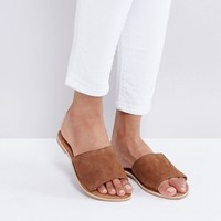 New Look Suede Flat Mule at asos.com