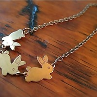 Flopsy Mopsy and Cottontail Necklace by BirdinFlightBoutique