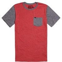 Hurley Munro T-Shirt - Mens Tee - Red