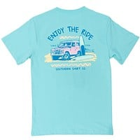 Enjoy the Ride Tee Shirt in Aqua Sky by The Southern Shirt Co.