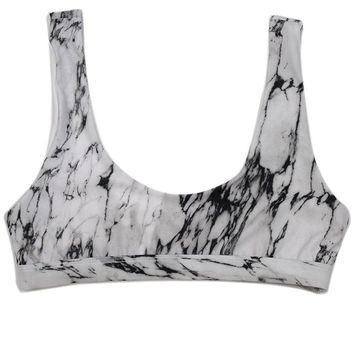 Seamless Sport Marble Rave Top