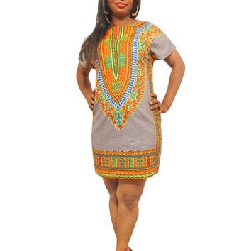 XMAS SALE - Dashiki Dress - African Print Dress - Women African Dresses - African Clothes