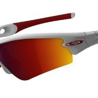 Oakley Men's Radar 09-721J Shield Sunglasses, Polished White, 135 mm