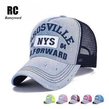 [Rancyword] 2017 New Branded Baseball caps canada Women's Cap with Mesh Bone Hip Hop Hats Lady Hat Letter RC1113