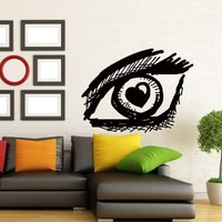 Wall Decals Hairdressing Salon Girl Eye Decal Vinyl Sticker Beauty Salon Decor Makeup Interior Window Decals Art Murals Chu1371