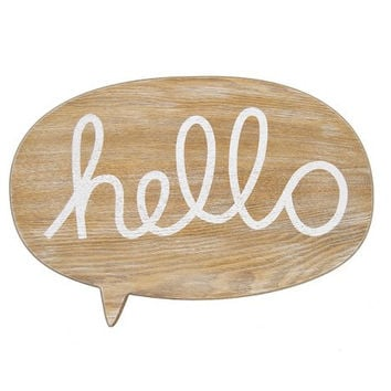 Hello Wall Plaque