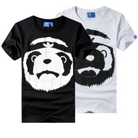 """Adidas"" Unisex Fashion Casual Cartoon Pattern Print Short Sleeve T-shirt Couple Shirt Top Tee"