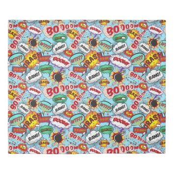 Funny Comic Pattern Duvet Cover