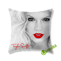 Taylor Swift Red Square Pillow Cover