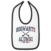 Hogwarts Alumni Galaxy Infant Bib - White