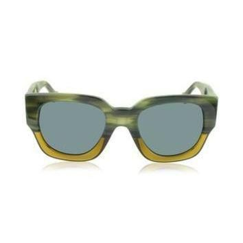ONETOW balenciaga designer sunglasses ba0011 65v green yellow acetate women s sunglass
