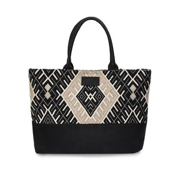 Phive Rivers Women's Jacquard Fabric Tote Bag -PRU1363