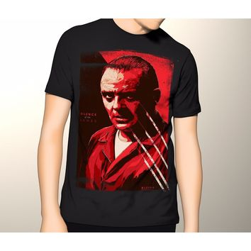 Silence of the Lambs Hannibal Lecter horror Shirt S-5XL Graphic T-Shirt