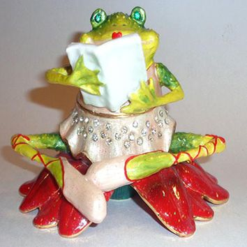 Girl Frog Trinket Box