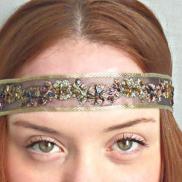 Beaded Headband Boho Hair Accessories Hippie Headband Bohemian