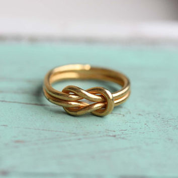 Sailor Knot Ring - Gold - Size 7
