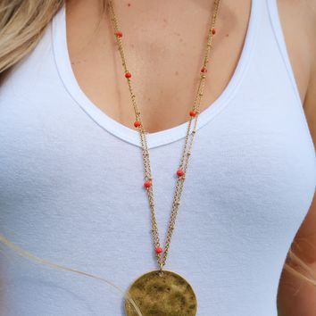 Treasures Untold Necklace: Gold/Red