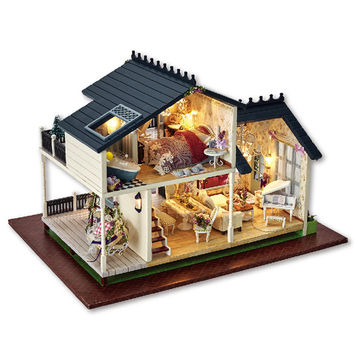 Diy Miniature Wooden Doll House Furniture Kits Toys Handmade Craft Miniature Model Kit DollHouse Toys Gift For Children A032